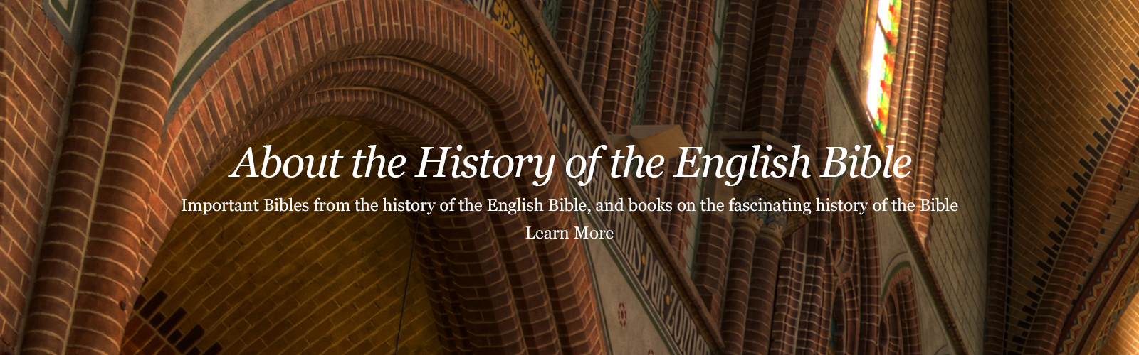 About the history of the English Bible.